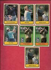 7 X 1981 DONRUSS PGA TOUR GOLF CARD