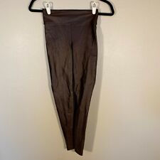 KORAL Revolve High-waisted Leggings Brown Coated Lustrous Stretch Small NWOT