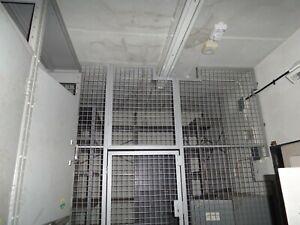 2.4 x METRES OF STEEL METAL SECURITY CAGING WITH A DOOR