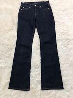 "Fidelity 27 Jeans Women's Lily Cut in Viper Bootcut 32"" Inseam Dark Wash"