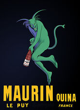 VINTAGE MAURIN QUINA ABSINTHE FRENCH ADVERTISING A4 POSTER PRINT