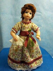 1:12 Dollhouse Miniatures Dolls--- Winfred ---A Young Georgian Girl
