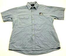 Guy Harvey Hombre con Botones Pesca Camisa Talla 1X Grande y Alto Cielo Azul