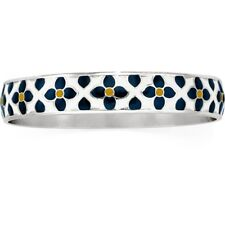 NWT Brighton BELLA LUCCA Luca Yellow Blue Flower Bangle Bracelet MSRP $48