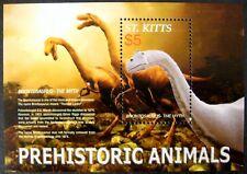 2005 Mn St Kitts Dinosaur Stamps Souvenir Sheet Brontosaurus Prehistoric Animals