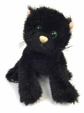 "Webkinz Shiny Black Cat Plush No Code Ganz 8"" Stuffed Animal Lovey HM135"