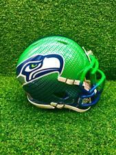 Seattle Seahawks CUSTOM Concept Blue/Green Hydro-Dipped Mini Football Helmet