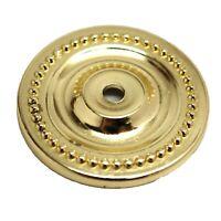 LOT 25 LAUREY Polished Brass Round Knob Backplate Cabinet Drawer Hardware