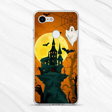 Ghost Bat Halloween Castle Funny Card Cover Case For Google Pixel 4 3A 3 2 1 XL