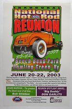 "Nhra Hot Rod Racing Poster 2003 Bowling Green Ky Top Fuel Inaugural Reunion 17"""