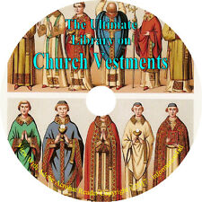 Church Vestments, Ultimate Library on CD, 39 Books, Embroidery, Needlework