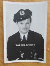 Portrait Foto Handelsmarine / Marine Ingenieur mit Eisernen Kreuz 1. Klasse (2