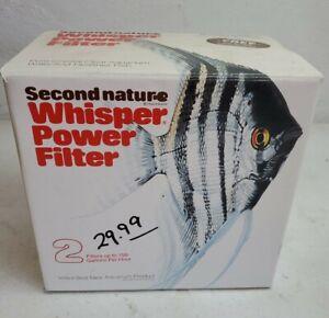 Vintage Second Nature Whisper Power Filter Model 2 for 10-55 Gallon Tanks