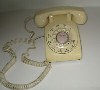 AS IS Yellow Bell System Western Electric 500DM Rotary Dial Desk Telephone AS IS
