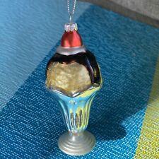 Italian Gelato Glass Ornament Vanilla Chocolate Sur La Table Italy Ice Cream