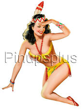 Bomber Art Pinup Girl Waterslide Decal Sticker Sexy Retro Indian S493