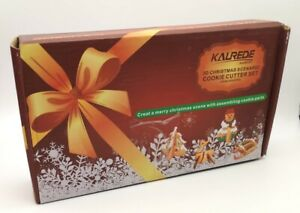 Kalrede Stainless Steel Christmas Xmas Cookie Cutter Set 3D Seasonal Shapes NEW