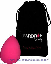Original En Forma De Lágrima Belleza Maquillaje Licuadora ® aplicar cosméticos Fundación Esponja Rosa -