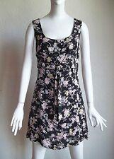 Vintage 90s NANETTE LEPORE Robes Pierre Empire Waist Floral Print MINI Dress 8 M