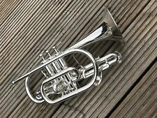 Besson Sovereign BE928-2 Bb Cornet-In Silver-Fantastic Condition-