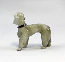 Porzellan Figur Wagner & Apel Pudel Hund grau H8cm 9942227