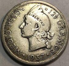 DOMINICAN REPUBLIC - Medio - 1/2 Peso - 1937 - KM-21 - Silver Coin