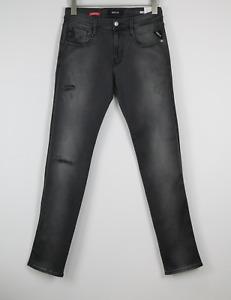 RRP €179 REPLAY ANBASS M914 Men W30/L34 HyperFlex Ripped Slim Fit Jeans 20508*