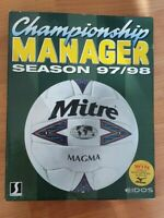 RARE BOXED Championship manager Season 97/98 CD EIDOS PC