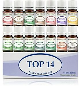 Essential Oil Set 14-5 Ml Therapeutic Grade 100% Pure Frankincense, Lavender,