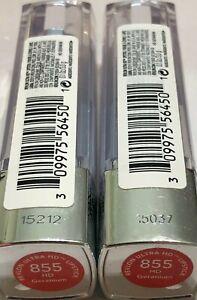 (2) Revlon Ultra HD Lipstick, 855 hd Geranium