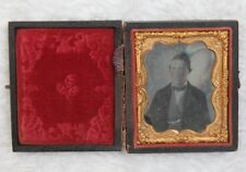 Daguerrotype Photograph Vintage Antique Civil War Era Man In Suit Aristocrat