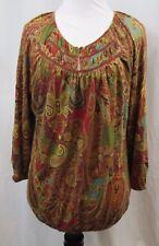Lauren Ralph Lauren Multi Color Cotton Top M