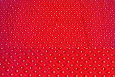 1 3/4 Yards Country Classic Folk Art Christmas on Red