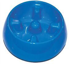 Hagen DogIt Go Slow Anti Gulping Slow Feeder Dog Bowl Dish 1.2 Litres Large Blue