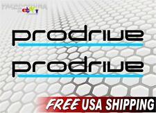 2 Prodrive Vinyl Racing Decals JDM Wheel Rims Forged STI WRX Car Bumper Stickers