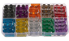 100X FUSIBLES HOJA CUCHILLA FUSIBLE ENCHUFABLE 2-7.5 10-20 25-35 AMP BLADE FUSE