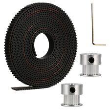 2 Meters GT2 6MM Open Timing Belt + 2 Pcs 20 Teeth GT2 Timing Pulley 5mm Bore
