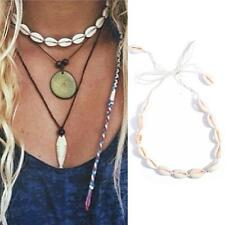 Hot Beach Bohemia Velvet Shell Pendant Chain Choker Rope Tassel Necklace Jewelry