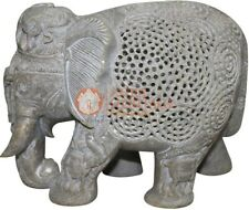 """7"""" Natural SoapStone Marble Jumbo Elephant Statue Collectible Housewarming Gifts"""