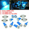 13Pcs Auto Car Accessories Interior LED Lights For Dome License Plate Lamp Kit