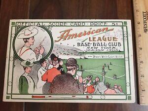 Rare 1906 New York Highlander Yankees vs Chicago White Sox Baseball Program