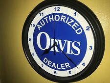 Orvis Fly Fishing Reel Rod Bait Shop Store AuthDealer Man Cave Wall Clock Sign