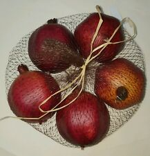 5 x Artificial pomegranate fruit in net bag rrp $29.45 home deco / kitchen ware