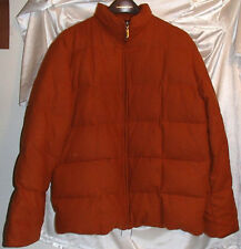 Hilary Radley Rust Orange Wool-Blend Goose Down Winter Coat Womens Size Small