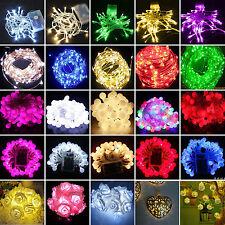 10-80 LED Battery Powered String Fairy Lights Wedding Xmas Party Xmas Lamp Decor