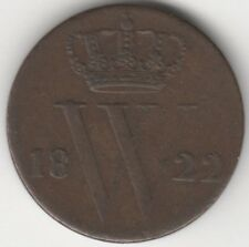 More details for 1822 netherlands william i 1/2 cent | copper | coins | pennies2pounds