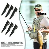 50 Pcs Terminal Rig Tackle Set Carp Fishing Safty Lead Clips Tail Rubbers Set