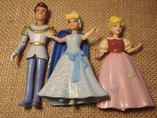 Polly Pocket Disney Princess Cinderella & Prince Charming Rich & Poor Lot G98
