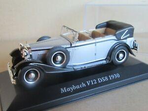 287O IXO Maybach V12 DS8 1930 Cabriolet 4 Doors Open Silver 1:43 New Box