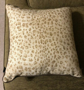 Chaps Cold Spring Leopard 18 x 18 in Decorative Throw Pillow